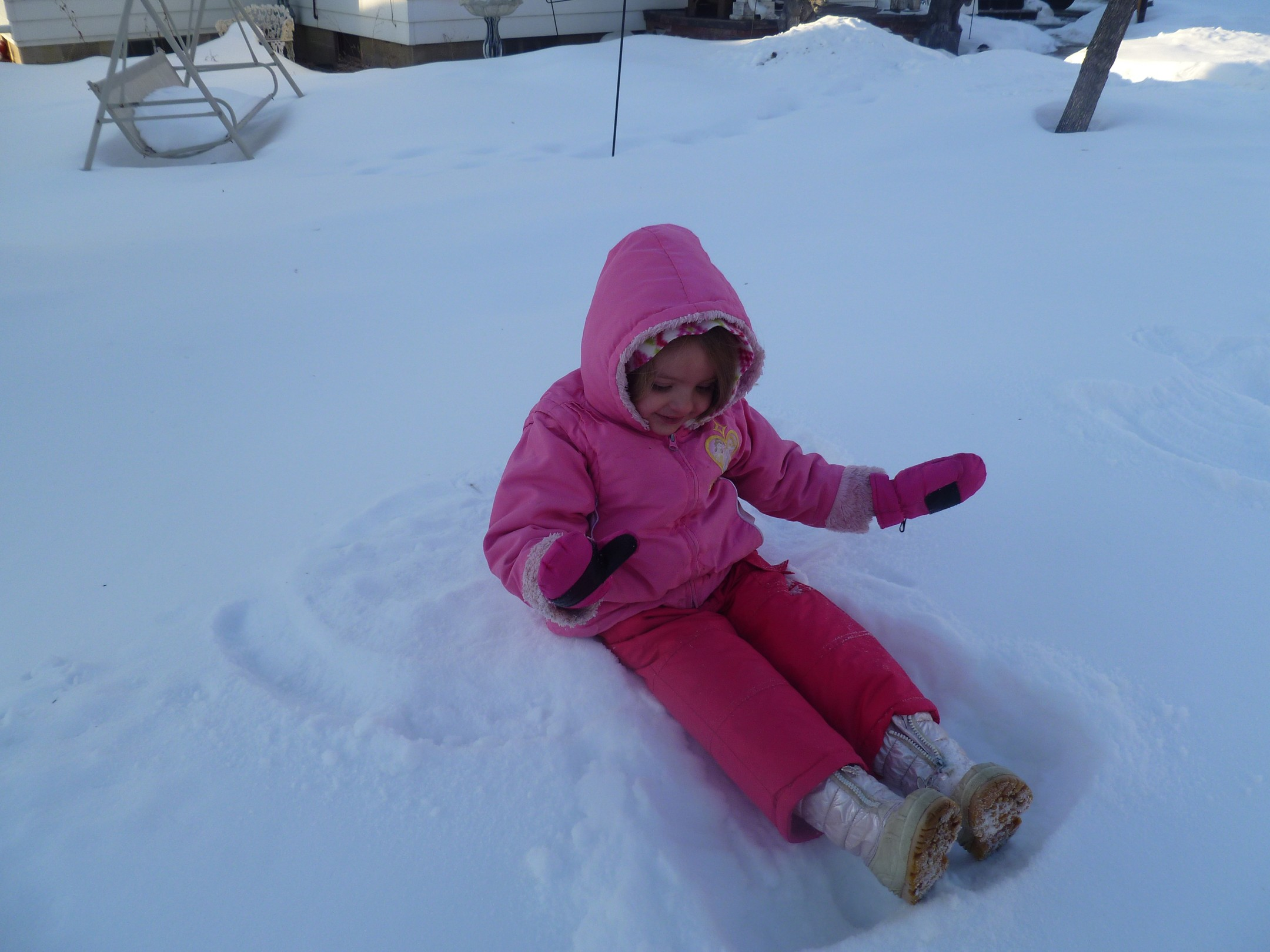 And last snow angel